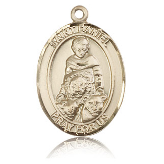 14kt Yellow Gold 1in St Daniel Medal