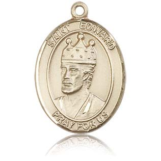 14kt Yellow Gold 1in St Edward Medal