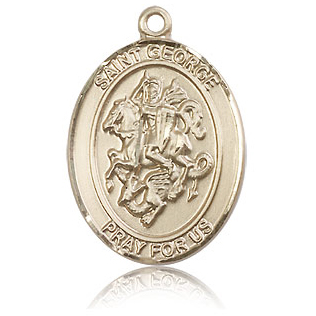 14kt Yellow Gold 1in St George Medal
