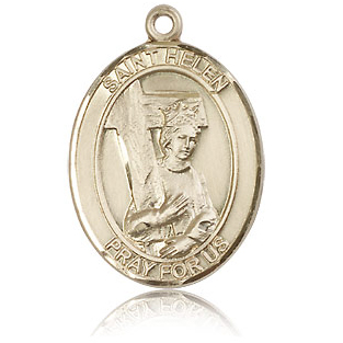 14kt Yellow Gold 1in St Helen Medal
