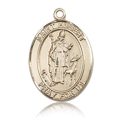 14kt Yellow Gold 1in St Hubert Medal