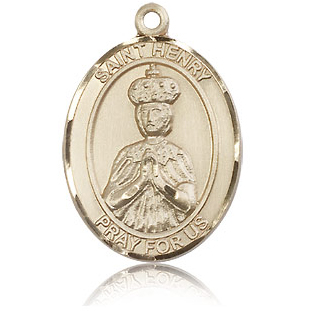 14kt Yellow Gold 1in St Henry II Medal