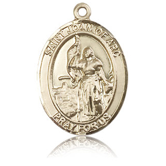 14kt Yellow Gold 1in St Joan of Arc Medal