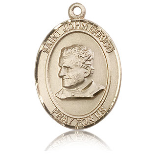 14kt Yellow Gold 1in St John Bosco Medal