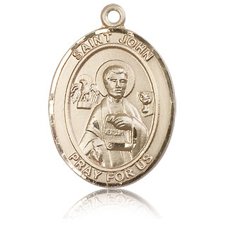 14kt Yellow Gold 1in St John the Apostle Medal
