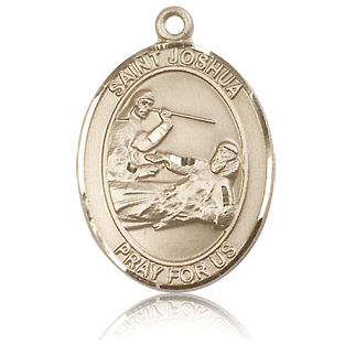 14kt Yellow Gold 1in St Joshua Medal