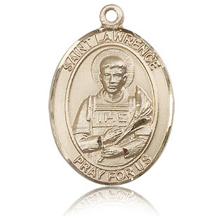 14kt Yellow Gold 1in St Lawrence Medal