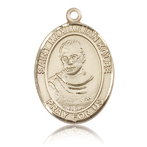 14kt Yellow Gold 1in St Maximilian Kolbe Medal