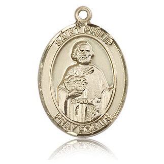 14kt Yellow Gold 1in St Philip the Apostle Medal