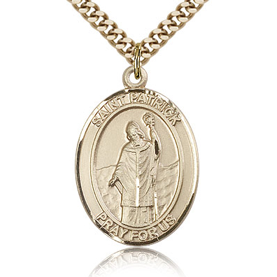 Gold Filled 1in St Patrick Medal & 24in Chain