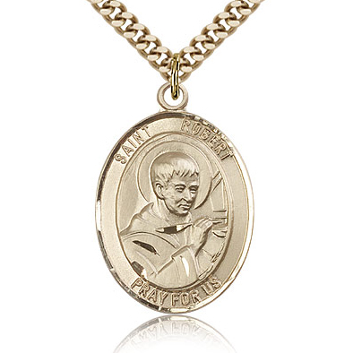 Gold Filled 1in St Robert Bellarmine Medal & 24in Chain