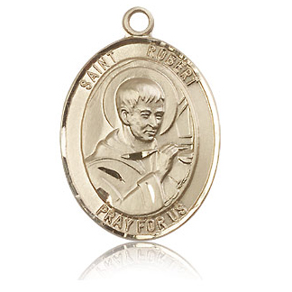 14kt Yellow Gold 1in St Robert Bellarmine Medal