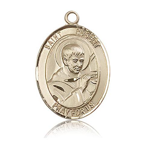 14kt Yellow Gold 1in St Robert Bellarmine Medal