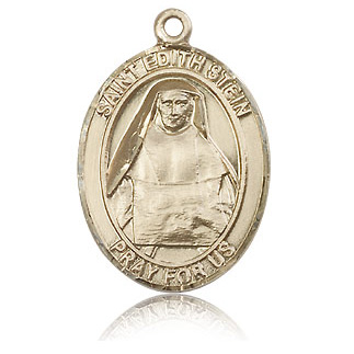 14kt Yellow Gold 1in St Edith Medal