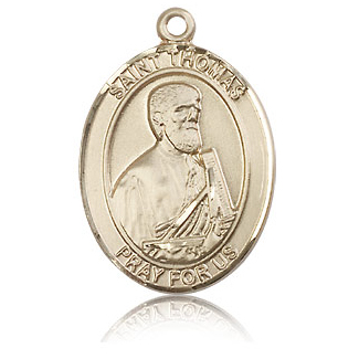 14kt Yellow Gold 1in St Thomas The Apostle Medal 7107kt