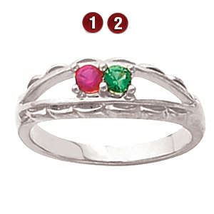 Ridge Crest Sterling Silver Mother's Ring