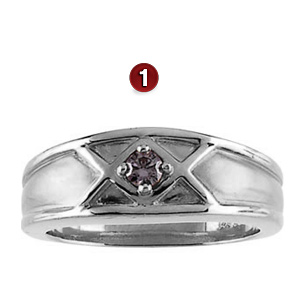 Sterling Silver Family Crown Ring