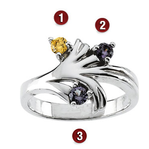 Family Vines Sterling Silver Mother's Ring