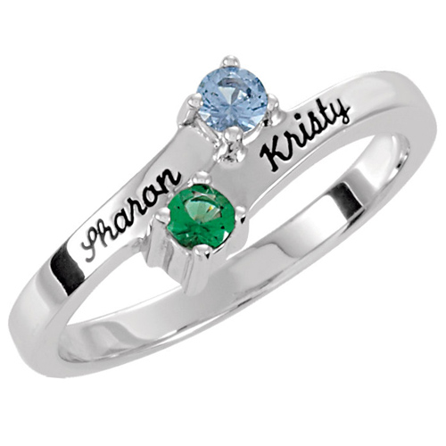Mother's Trinity Sterling Silver Mother's Ring