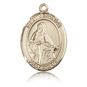 14kt Yellow Gold 1in St Veronica Medal