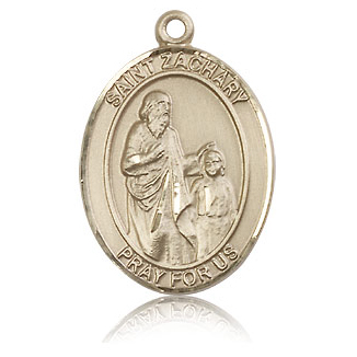 14kt Yellow Gold 1in St Zachary Medal
