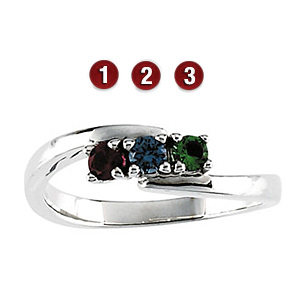 Delicate Arms Sterling Silver Mother's Ring