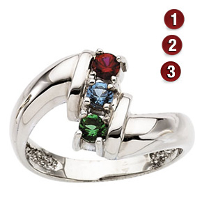 Crossing Paths Sterling Silver Mother's Ring