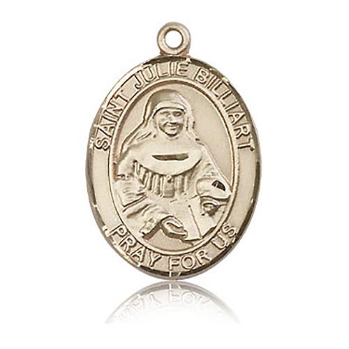 14kt Yellow Gold 1in St Julie Billiart Medal