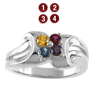 Children's Star Sterling Silver Mother's Ring