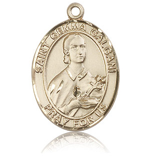 14kt Yellow Gold 1in St Gemma Galgani Medal