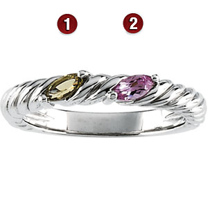 Unconditional Sterling Silver Mother's Ring