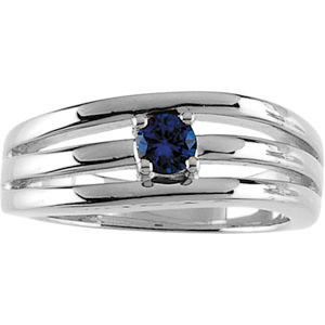 Sterling Silver Family Bands Ring