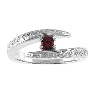 Glowing Arms Sterling Silver Mother's Ring