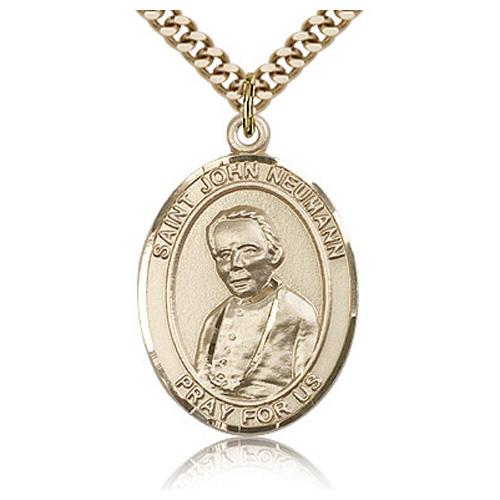 Gold Filled 1in St John Neumann Medal & 24in Chain