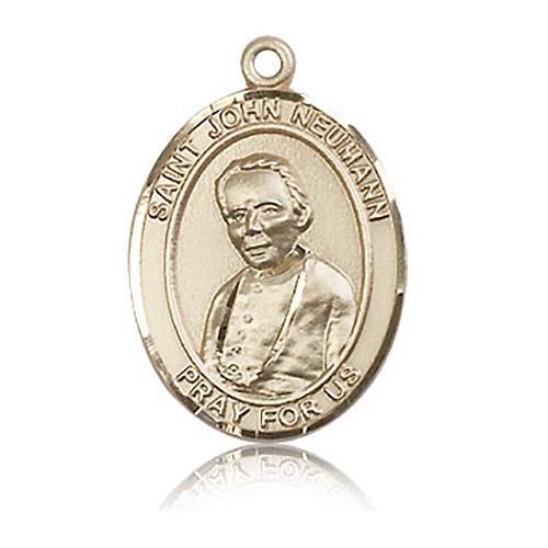 14kt Yellow Gold 1in St John Neumann Medal