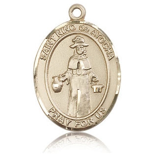 14kt Yellow Gold 1in St Nino de Atocha Medal