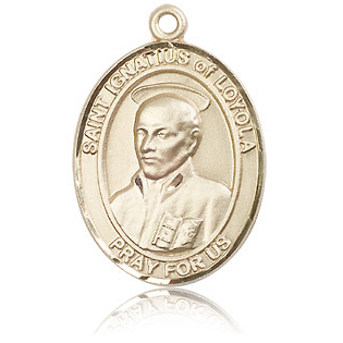 14kt Yellow Gold 1in St Ignatius Medal