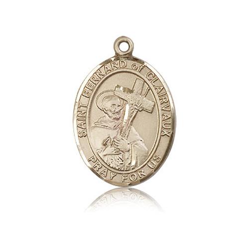 14kt Yellow Gold 1in St Bernard Medal