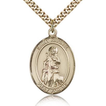 Gold Filled 1in St Rachel Medal & 24in Chain