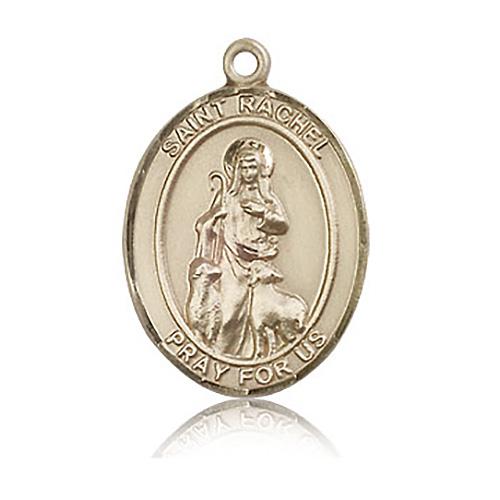 14kt Yellow Gold 1in St Rachel Medal