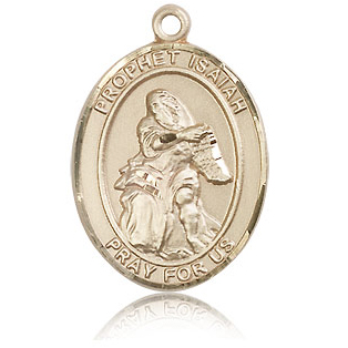 14kt Yellow Gold 1in St Isaiah Medal