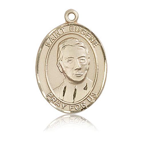 14kt Yellow Gold 1in St Eugene Medal