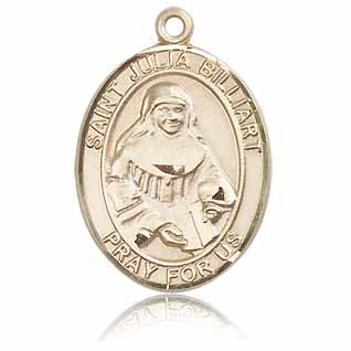 14kt Yellow Gold 1in St Julia Billiart Medal