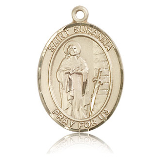 14kt Yellow Gold 1in St Susanna Medal