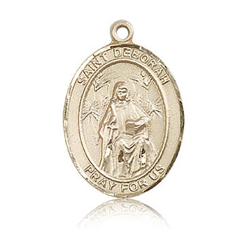 14kt Yellow Gold 1in St Deborah Medal