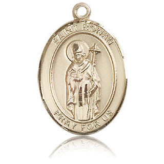 14kt Yellow Gold 1in St Ronan Medal