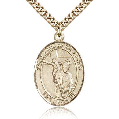 Gold Filled 1in St Paul of the Cross Medal & 24in Chain