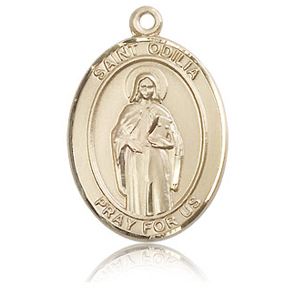 14kt Yellow Gold 1in St Odilia Medal