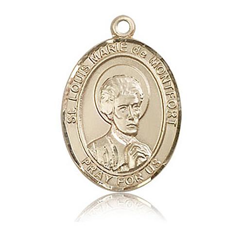 14kt Yellow Gold 1in St Louis de Montfort Medal