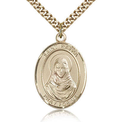 Gold Filled 1in St Rafka Medal & 24in Chain